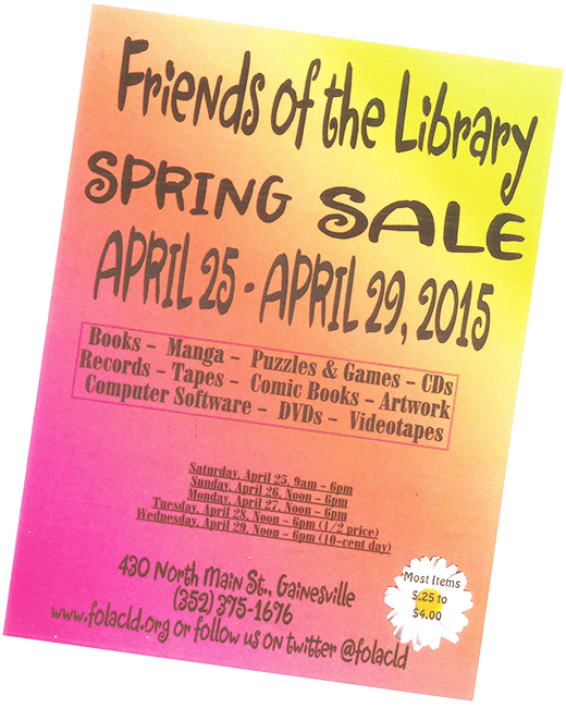 Spring 2015 Book Sale – Friends of the Library in Gainesville