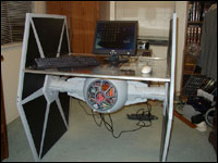 Dave Barry's TIE Fighter PC mod + desk