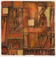 la danse - aquarel op papier 36 x 36 cm
