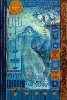 petite chanson d'amour 13 acryl op papier op paneel 30 x 20 cm