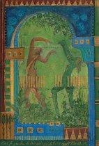 petite chanson d'amour 24 acryl op papier op paneel 30 x 20 cm