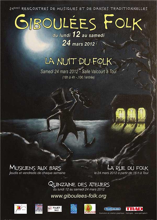 affiche des giboulees folk 2012
