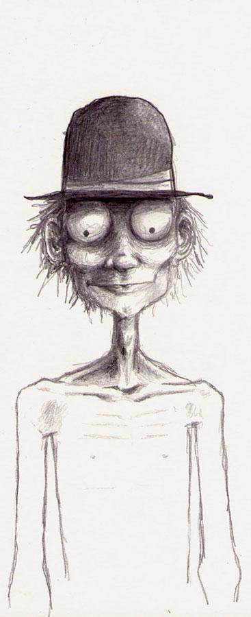 chapeau sur la tête d'un homme