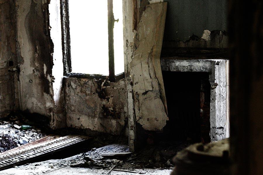 chambre en ruine