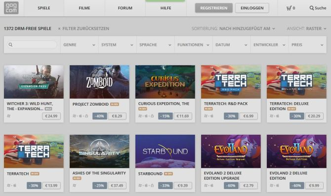 GOG - New Games IN DEV