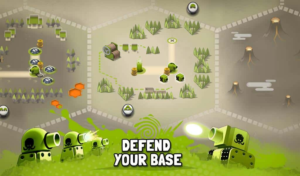 Tactile Wars defences