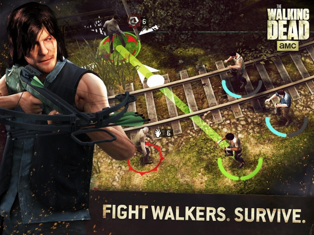 The Walking Dead No Man's Land fight survive