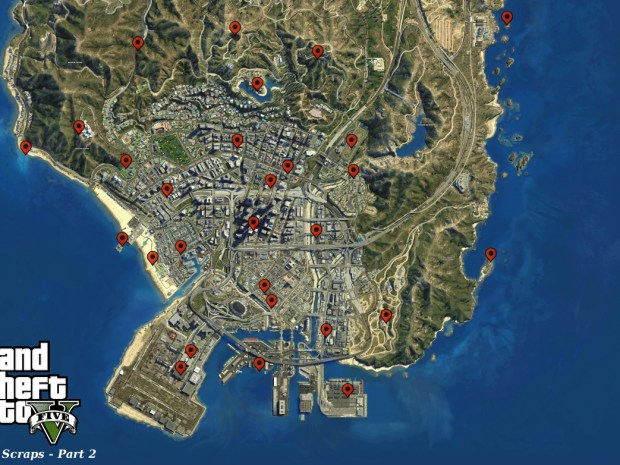 GTA 5 Letter Scraps Locations