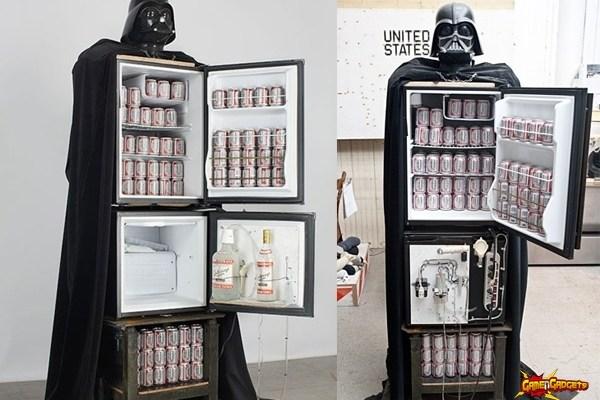 Darth Vader Beer Fridge and Vodka Fountain