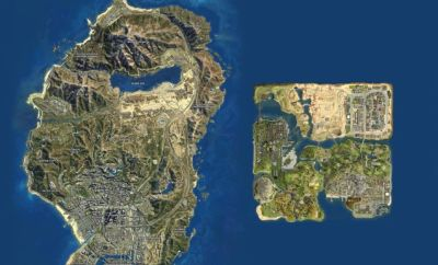 Map Of GTA 5 Vs Map Of San Andreas