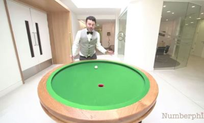 Mathematician Builds An Elliptical Pool Table