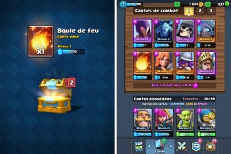 coffre et cartes clash royal no