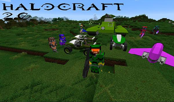 HaloCraft 2.0 Mod para Minecraft 1.8, 1.8.8 y 1.8.9-GAMERSRD