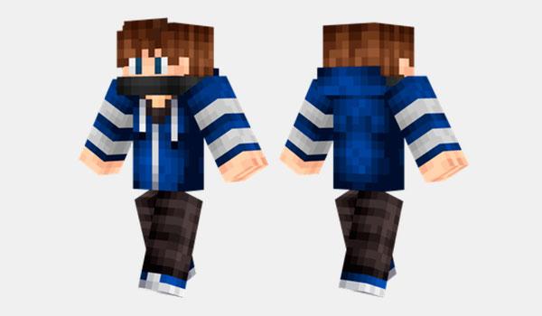 Cool Blue Guy Skin-Minecraft-GAMERSRD