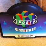 Nintendo 64 Sports All Star Titles Display Sign 3