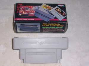 oxed Super Nintendo Compatable International Game Converter Cartridge