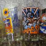 Atari Pint Glass Set Arcade 4 Asteroids Missile Command Centipede Tempest