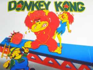 Rare Donkey Kong & Mario Video Game Carnival Fair Mirror Prize
