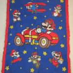 NINTENDO SUPER MARIO BROS QUILT CRIB BLANKET WALL HANGING QUILTED 1980'S