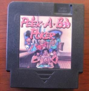 Nintendo- Peek A Boo Poker - Game - NES - PANESIAN