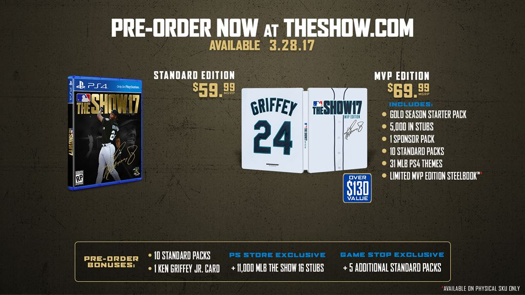 Griffey to grace MLB The Show '17 cover