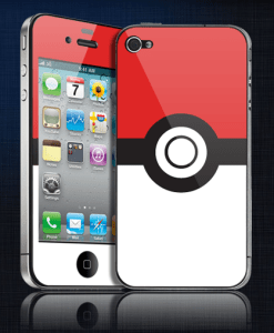 pokeball iPhone 4s decal
