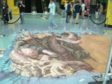 Kurt Wenner - Gears of War Chalk - Day 3