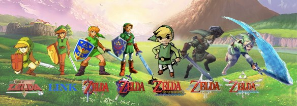 The Legend of Zelda progressive timeline. Facebook Cover Photo