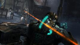 Dead Space 3 laser shot at Isaac