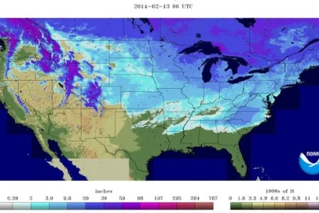 where's the snow? on the ground in 49 of 50 states