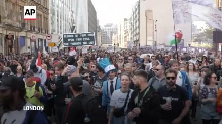 Thousands in London protest against virus lockdown