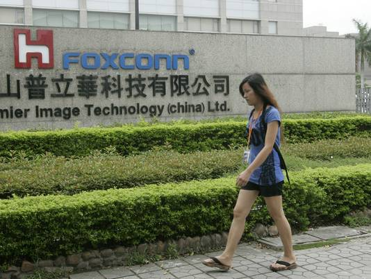 foxconn 2010 sign