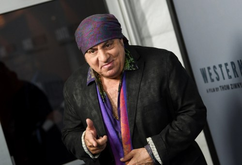 "E Street Band member Steven Van Zandt joined the A-list audience for the special screening of ""Western Stars"" in New York on Wednesday."
