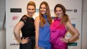 Designerin Ella Deck, Sängerin Saskia Leppin, Christine Deck (alle in Ella Deck Couture) (c) Werner Gritzbach