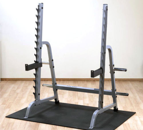 Short commercial style squat rack ideal for basements