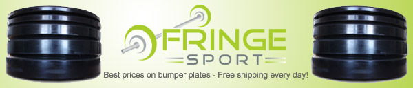 Best prices on bumper plate sets online - and always free shipping at Fringesport