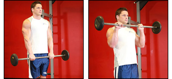 Dumbbell Barbell Curl - Click for instructions