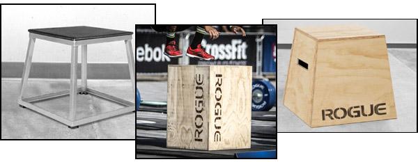 Diversos tipos de cajas plyo.  madera, metal, y flippable