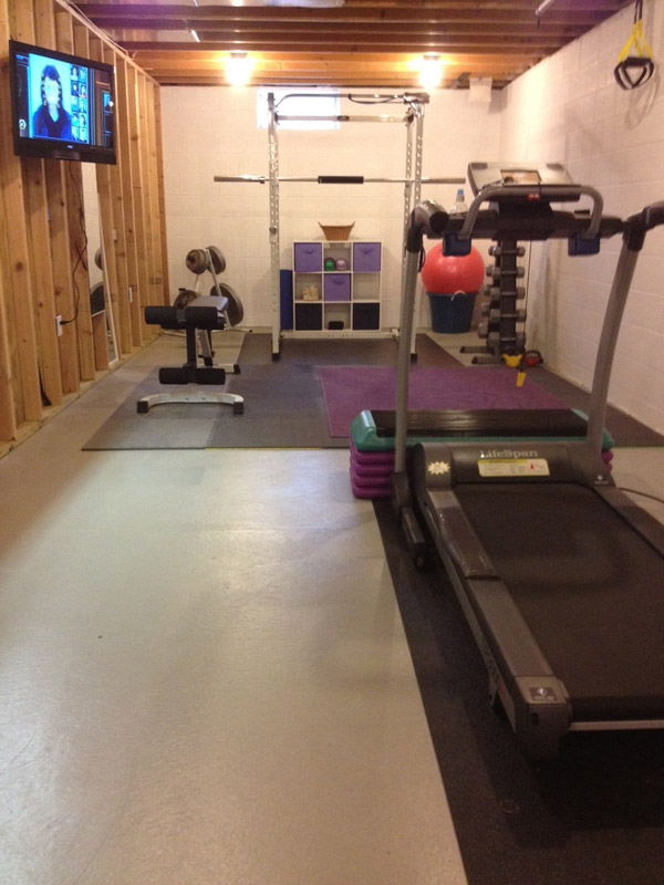 Inspirational garage gyms ideas gallery pg 7 garage gyms for Best way to build a basement