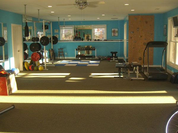 Inspirational garage gyms ideas gallery pg 8 garage gyms Living room gym
