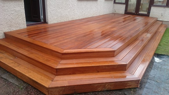 decking edinburgh- hardwood yelow balau timber decking