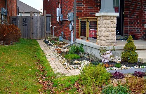 Low Maintenance Landscape Design: Narrow Strip of Grass