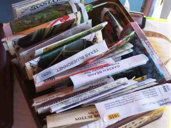 seed life chart for garden seeds