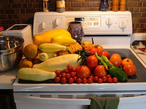 Storing surplus vegetables