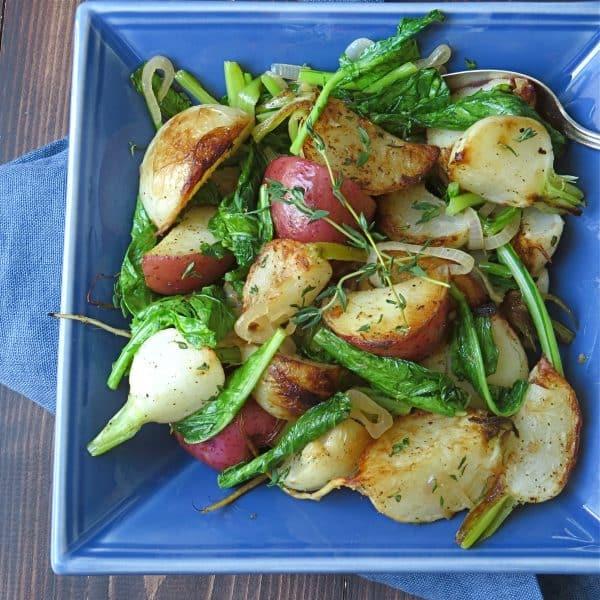 turnips potatoes and greens