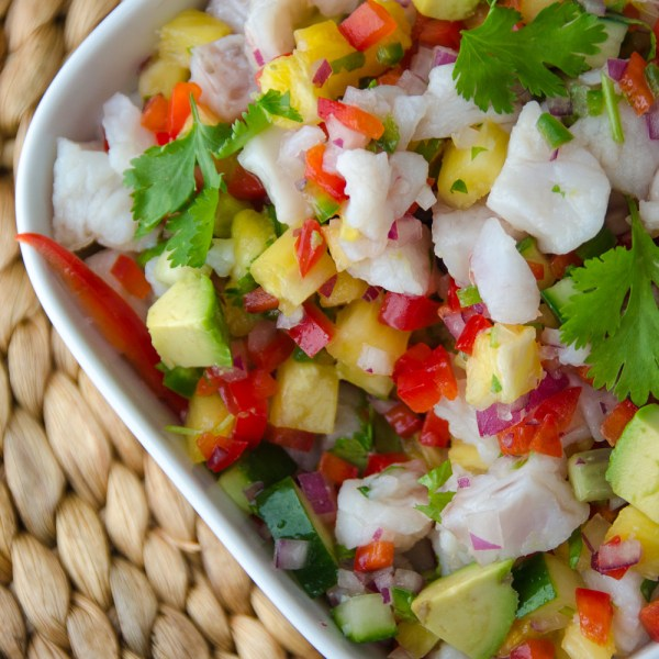 snapper and pineapple ceviche | Garlic + Zest
