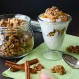 Apple Walnut Spice Granola Bars | Garlic & Zest