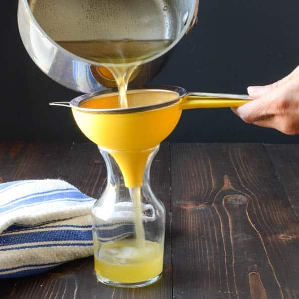 Honey Thyme Simple Syrup | Garlic + Zest
