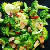 Ottolenghi's grilled broccoli with Chili and Garlic | Garlic + Zest