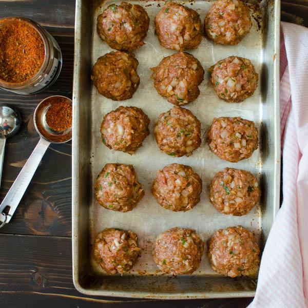 Cajun Meatballs and Pasta | Garlic + Zest